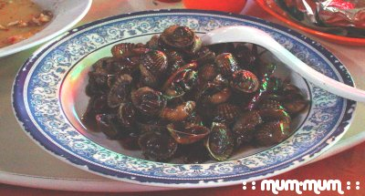 Fried Cockles in Soy Sauce and Chillies
