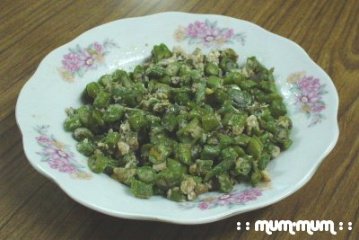 Chopped Long Beans Stir-Fried with Egg