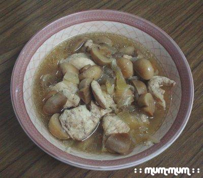 Stir-fried Mushroom Chicken