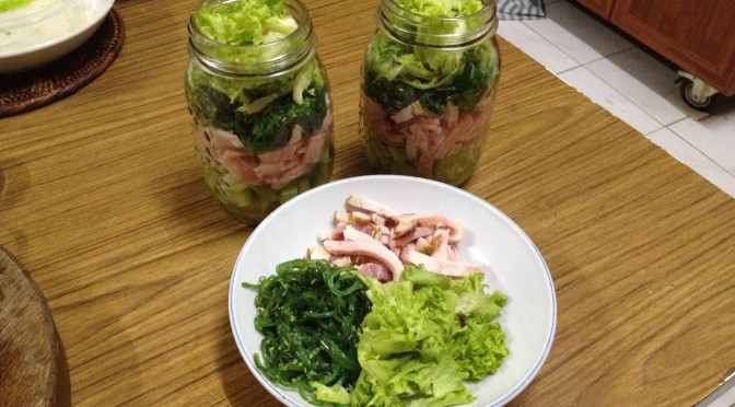 Mason Jar Lunches : Ham Salad with Seaweed…. What?!?!
