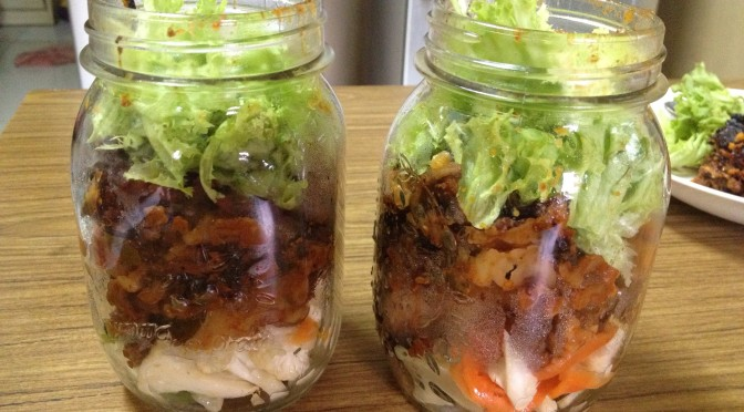 Mason Jar Lunches : Crockpot lasagna
